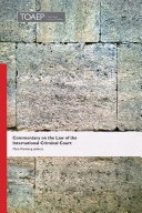 Pdf Commentary on the Law of the International Criminal Court Telecharger