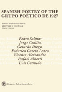 Spanish Poetry of the Grupo Poético de 1927