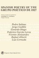Spanish Poetry of the Grupo Po  tico de 1927