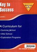 Math in Context Key to Success  A Curriculum for Summer School  Grade 6