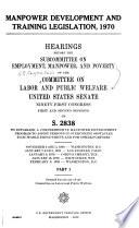 Manpower Development and Training Legislation  1970