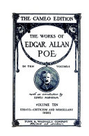 The Works of Edgar Allan Poe: Essays-Criticism and Miscellany-Index