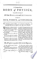 The Family Magazine ... Part I. containing useful directions in all the branches of housekeeping and cookery ... Part II. containing a compendious body of physick, etc