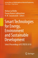 Smart Technologies for Energy  Environment and Sustainable Development