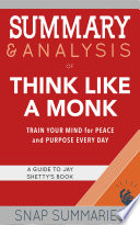 Summary   Analysis of Think Like a Monk