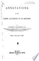Annotations On The Gospel According To St Matthew