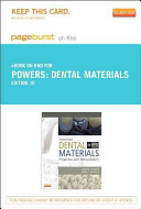 Dental Materials Pageburst on Kno Retail Access Code
