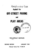 Asphalt For Off Street Paving And Play Areas