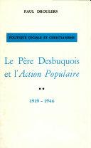 Pdf Le père Desbuquois et l'Action Populaire Telecharger