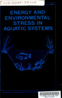 Energy and Environmental Stress in Aquatic Systems