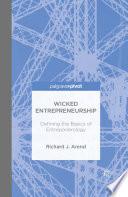 Wicked Entrepreneurship  Defining the Basics of Entreponerology