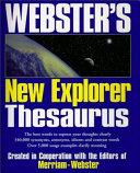 Webster s New Explorer Thesaurus Book