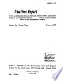 Activities Report of the Quartermaster Food and Container Institute for the Armed Forces