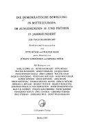 Die Demokratische Bewegung in Mitteleuropa im Ausgehenden 18. und Frühen 19. Jahrhundert