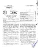 Technical News Bulletin of the National Bureau of Standards Book