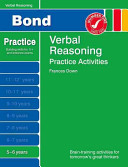 Bond Practice Verbal Reasoning Practice Activities 5-6 Years