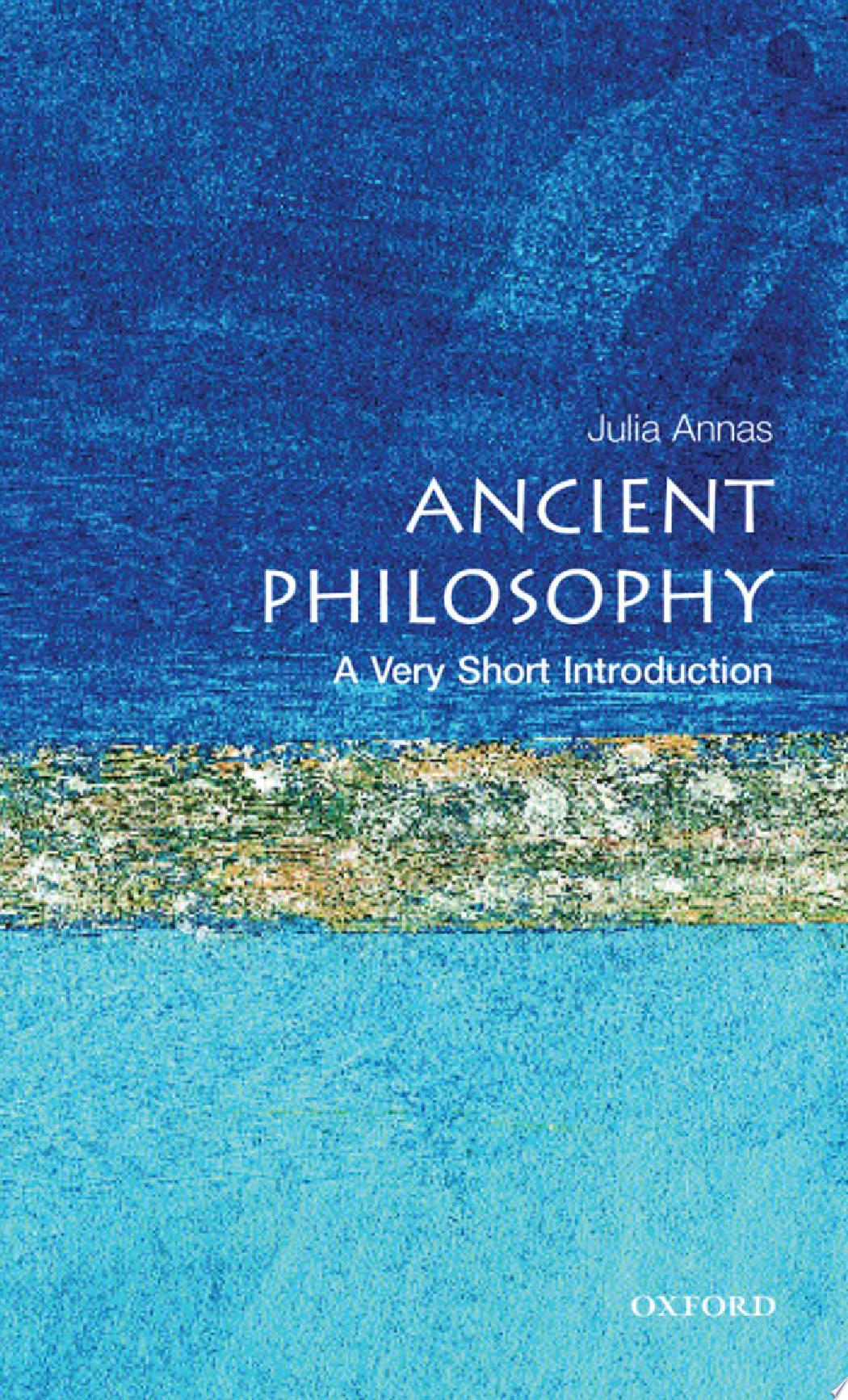 Ancient Philosophy  A Very Short Introduction