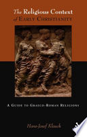 Religious Context of Early Christianity