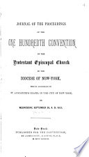 Journal of the     Annual Convention  Diocese of New York