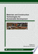 Materials and Construction Technologies for Sustainable Development