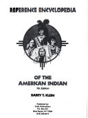 Reference Encyclopedia of the American Indian Book