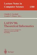 LATIN 98  Theoretical Informatics
