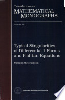Typical Singularities of Differential 1-Forms and Pfaffian Equations