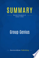 Summary  Group Genius