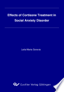 Effects of Cortisone Treatment in Social Anxiety Disorder
