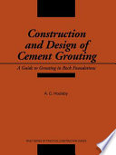 Construction and Design of Cement Grouting