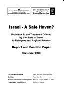 Israel  a Safe Haven  Book