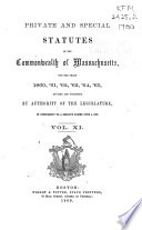 Private and Special Statutes of the Commonwealth of Massachusetts