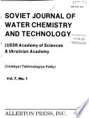 Soviet Journal of Water Chemistry and Technology  , Band 7,Ausgabe 4