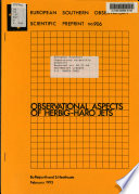 European Southern Observatory Scientific Preprint