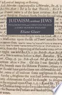 Judaism Without Jews