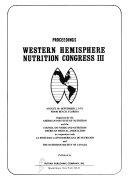 Proceedings Western Hemisphere Nutrition Congress Book PDF