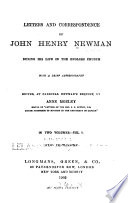 Letters and Correspondence of John Henry Newman During His Life in the English Church