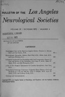 Pdf Bulletin of the Los Angeles Neurological Societies