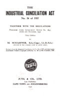 The Industrial Conciliation Act No 36 Of 1937
