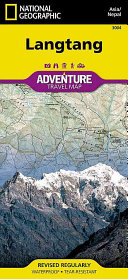 National Geographic Trails Illustrated Adventure Map Langtang