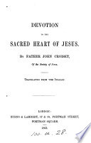 Devotion To The Sacred Heart Of Jesus Transl