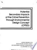 Potential Secondary Impacts of the Crime Prevention Through Environmental Design Concept  CPTED