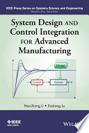 System Design And Control Integration For Advanced Manufacturing Book PDF