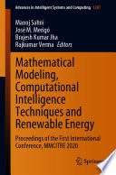Mathematical Modeling  Computational Intelligence Techniques and Renewable Energy Book