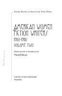 American Women Fiction Writers, 1900-1960