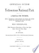 Official Guide to the Yellowstone National Park Book