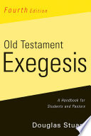 Old Testament Exegesis Fourth Edition