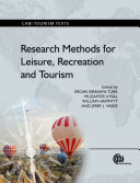 Research Methods for Leisure  Recreation and Tourism