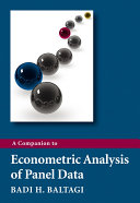 A Companion to Econometric Analysis of Panel Data