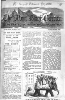 The Mont Blanc Gazette and Illustrated Egyptian Hall Advertiser   By Albert R  Smith